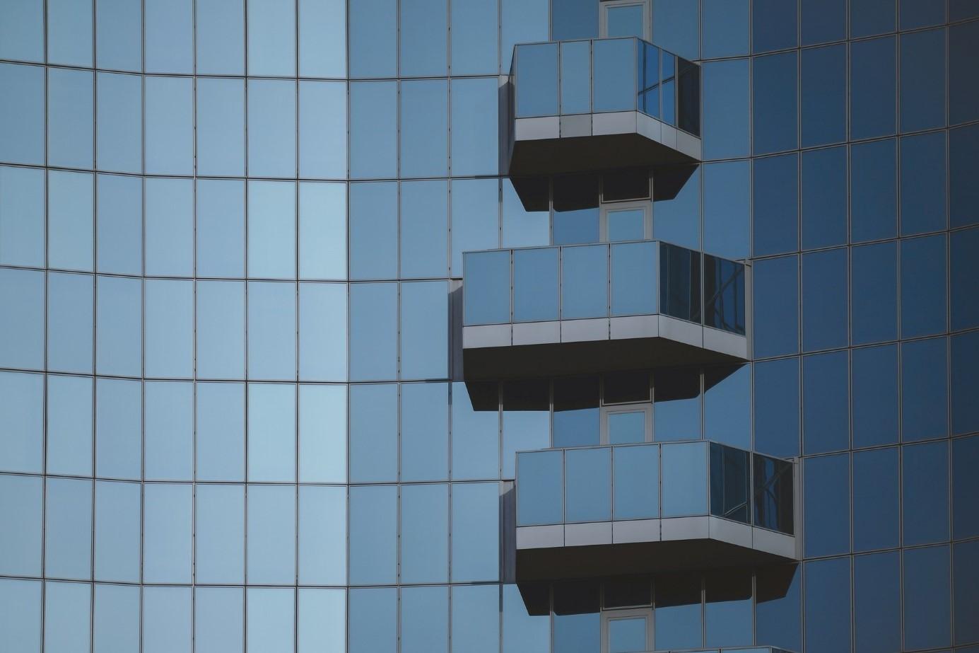 immeuble en verre