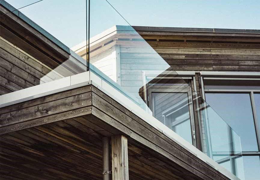 veranda maison cubique